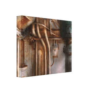 Steampunk - Plumbing - Industrial abstract Canvas Print