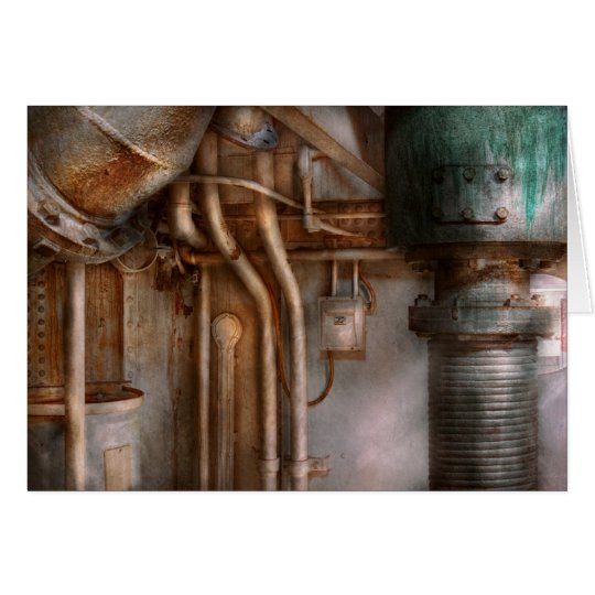 Steampunk - Plumbing - Industrial abstract Card