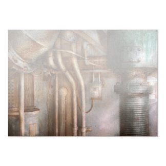 Steampunk - Plumbing - Industrial abstract Personalized Invitations
