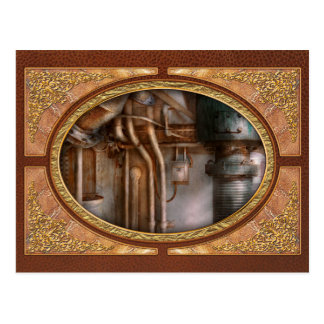 Steampunk - Plumbing - Industrial abstract Postcard