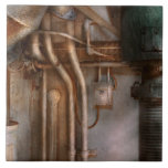 Steampunk - Plumbing - Industrial abstract Ceramic Tile