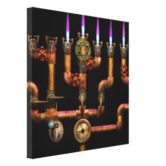Steampunk - Plumbing - Lighting the Menorah Canvas Print