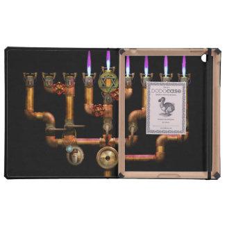 Steampunk - Plumbing - Lighting the Menorah Cover For iPad