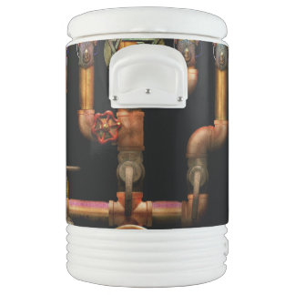 Steampunk - Plumbing - Lighting the Menorah Igloo Beverage Cooler