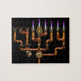 Steampunk - Plumbing - Lighting the Menorah Jigsaw Puzzle