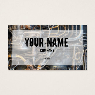 Steampunk Plumbing Pipes Business Card