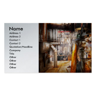 Steampunk - Plumbing - Pipes Business Card Template