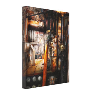 Steampunk - Plumbing - Pipes Stretched Canvas Print
