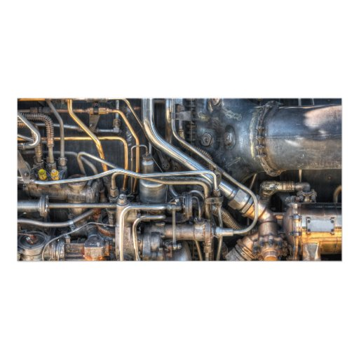 Steampunk Plumbing Pipes Photo Card