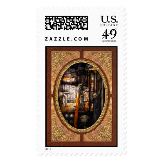 Steampunk - Plumbing - Pipes Postage Stamps