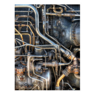 Steampunk Plumbing Pipes Postcard
