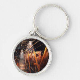 Steampunk - Plumbing - The hallway Silver-Colored Round Keychain