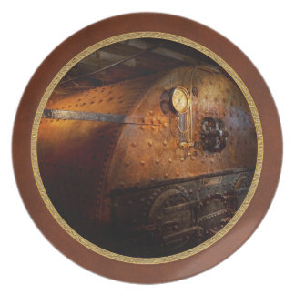Steampunk - Plumbing - The home of a stoker Melamine Plate