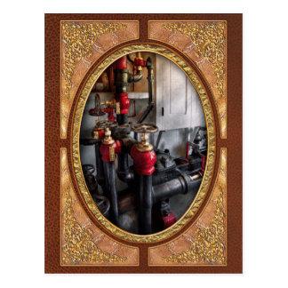 Steampunk - Plumbing - Turn the valve Postcard
