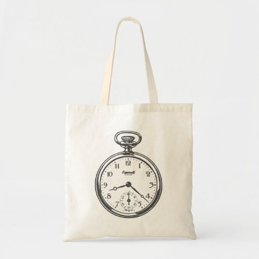Steampunk Pocket Watch Canvas Bags