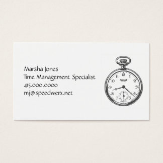 Steampunk Pocket Watch Business Card