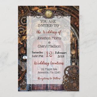 Steampunk Pocket watch Wedding Invitations