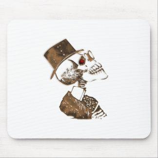 Steampunk Preacher Skeleton Mouse Pad