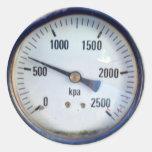 Steampunk Pressure Gauge Sticker