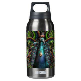 Steampunk - Pretty as a peacock Insulated Water Bottle