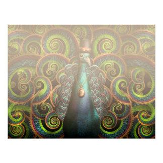 Steampunk - Pretty as a peacock Letterhead Design