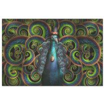 Steampunk - Pretty as a peacock Tissue Paper