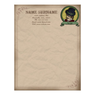 Steampunk Prince, customiseable letterhead
