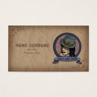 Steampunk Princess, business card template