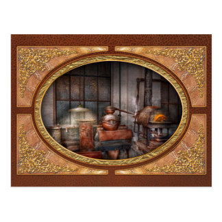 Steampunk - Private distillery Post Cards