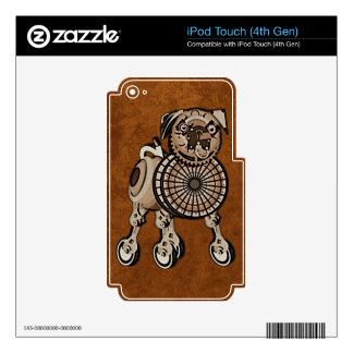 Steampunk Pug Decals For iPod Touch 4G