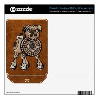Steampunk Pug FreeAgent GoFlex Skins