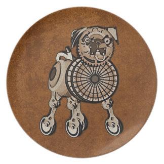 Steampunk Pug Plate