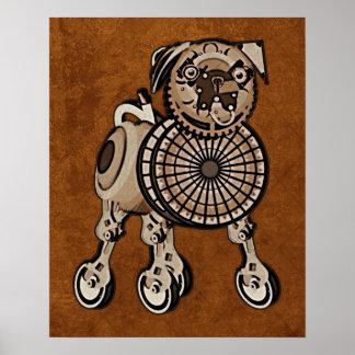 Steampunk Pug Poster