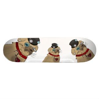 Steampunk Pug Skateboard