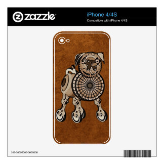 Steampunk Pug Skin For The iPhone 4S