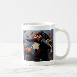 Steampunk Pumpkin Witch Classic White Coffee Mug