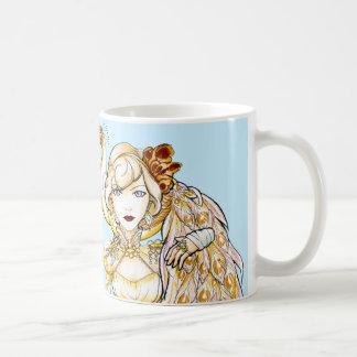 Steampunk Queen and Peacock Mug