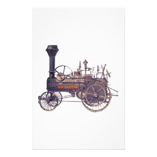 Steampunk Rebel Steam Engine Personalized Stationery