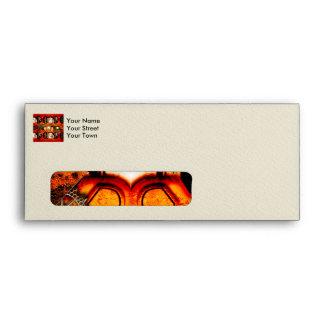 Steampunk red golden design envelope
