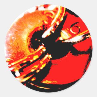 Steampunk Red Washer Sticker