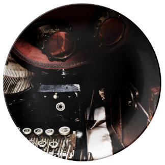 Steampunk Reflections Porcelain Plate