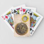 Steampunk reloj baraja cartas de poker