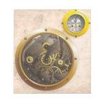 Steampunk reloj bloc de papel