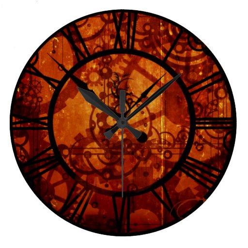 Steampunk - reloj de pared