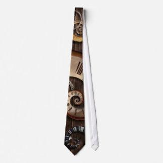 Steampunk - reloj - máquina de tiempo corbata personalizada