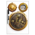 Steampunk reloj pizarra