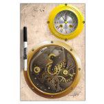 Steampunk reloj pizarras blancas de calidad
