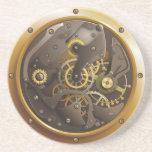 Steampunk reloj posavaso para bebida