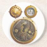 Steampunk reloj posavasos cerveza