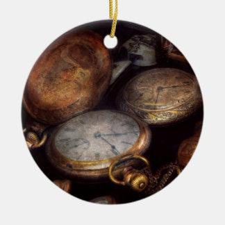 Steampunk - reloj - tiempo llevado adorno de navidad